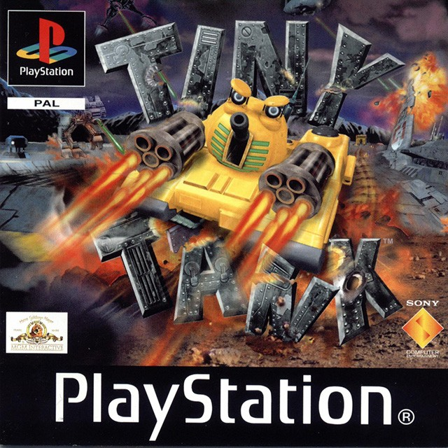 Front boxart of the game Tiny Tank (Europe) on Sony Playstation