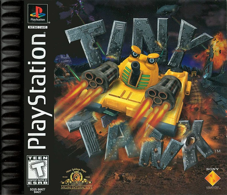 Front boxart of the game Tiny Tank (United States) on Sony Playstation