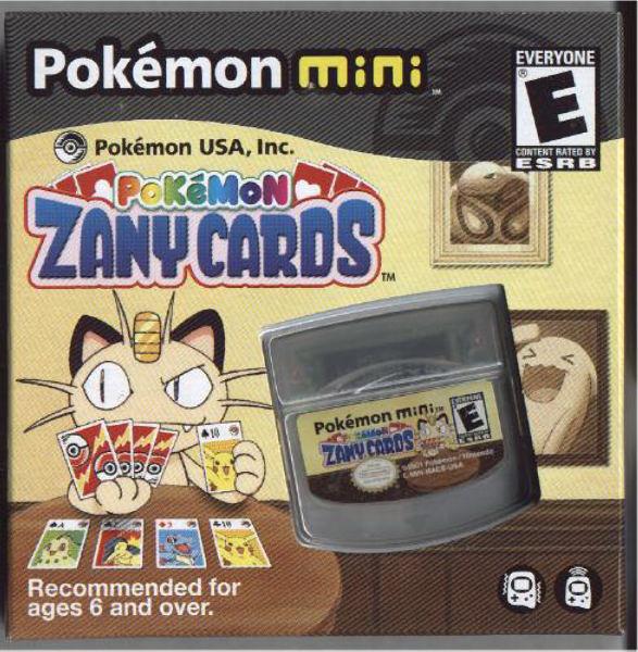 Front boxart of the game Zany Cards on Nintendo Pokemon Mini