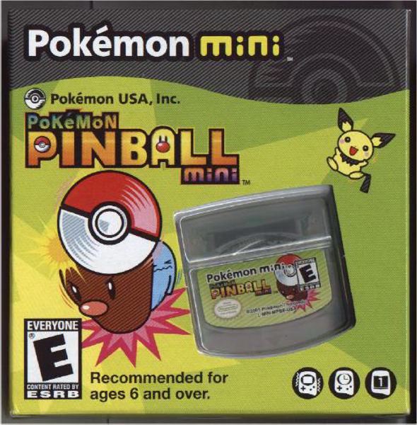 Front boxart of the game Pokemon Pinball Mini on Nintendo Pokemon Mini