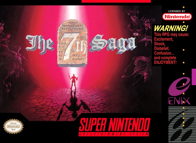 Front boxart of the game 7th Saga, The (United States) on Nintendo Super NES