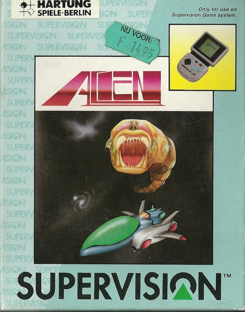 Front boxart of the game Alien on Watara Supervision
