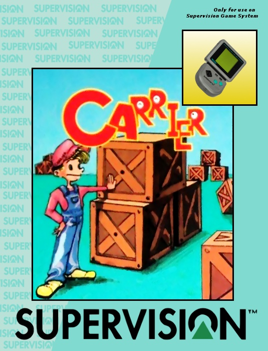 Front boxart of the game Carrier (United States) on Watara Supervision