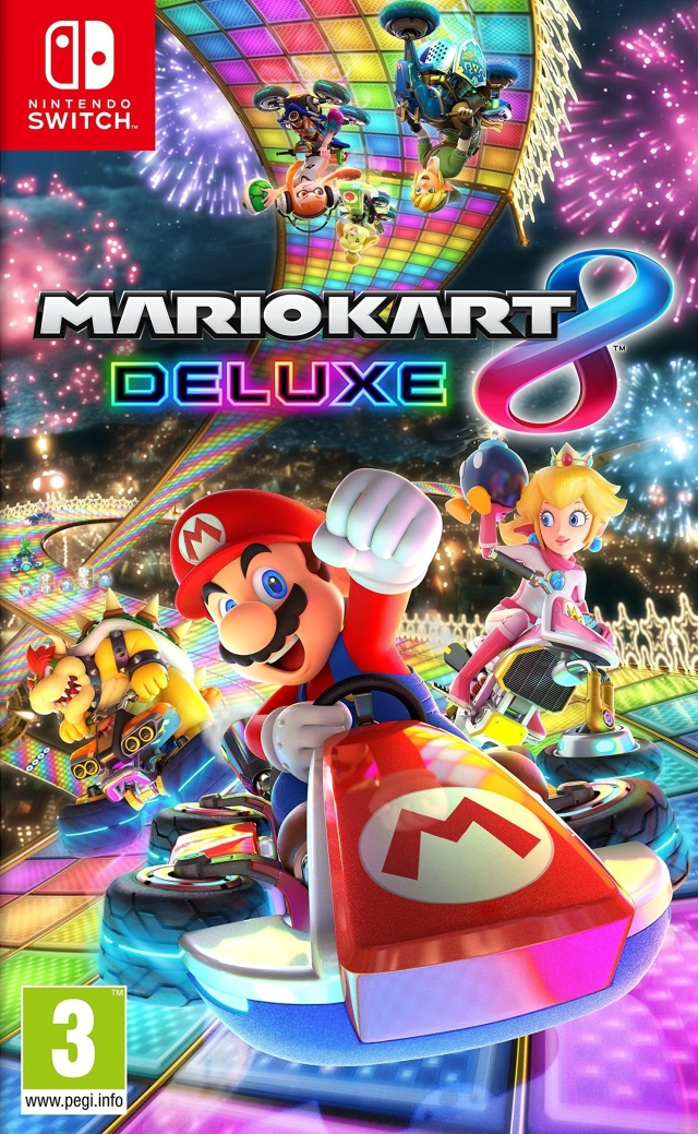 Front boxart of the game Mario Kart 8 Deluxe (Europe) on Switch
