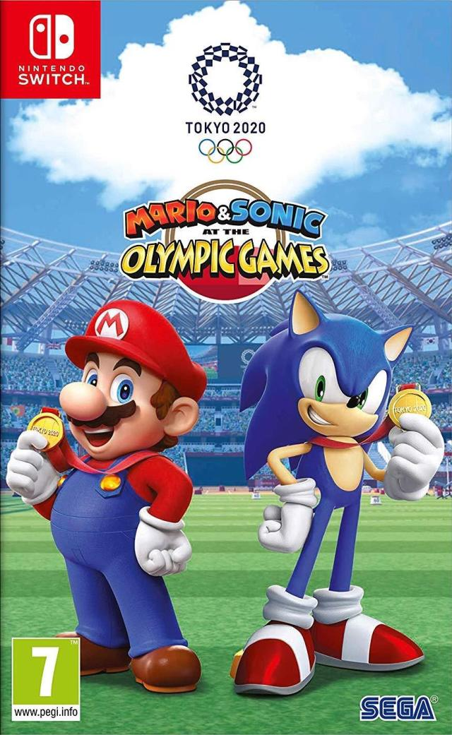 Front boxart of the game Mario & Sonic at the Olympic Games - Tokyo 2020 (Europe) on Switch