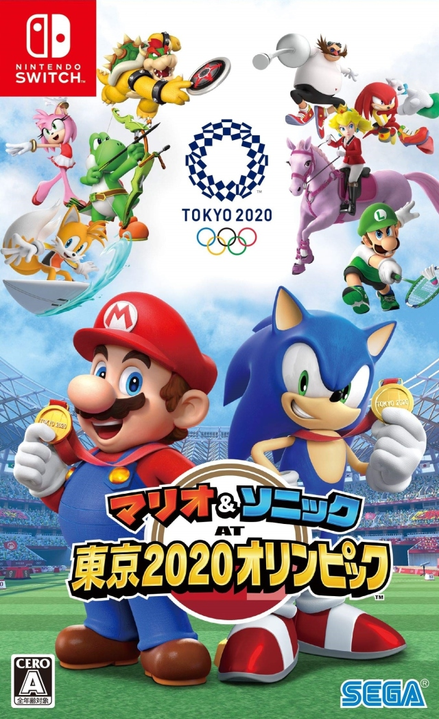 Front boxart of the game Mario & Sonic at the Olympic Games - Tokyo 2020 (Japan) on Switch