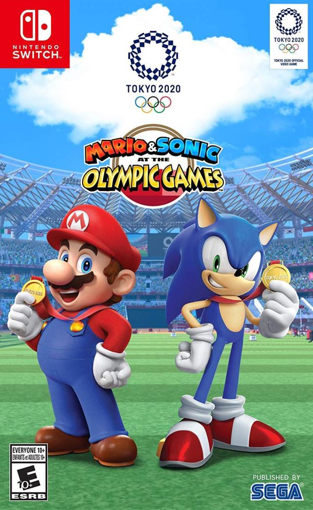 Front boxart of the game Mario & Sonic at the Olympic Games - Tokyo 2020 (United States) on Switch