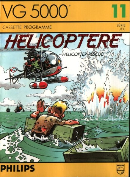 Front boxart of the game Helicoptere on Philips VG5000
