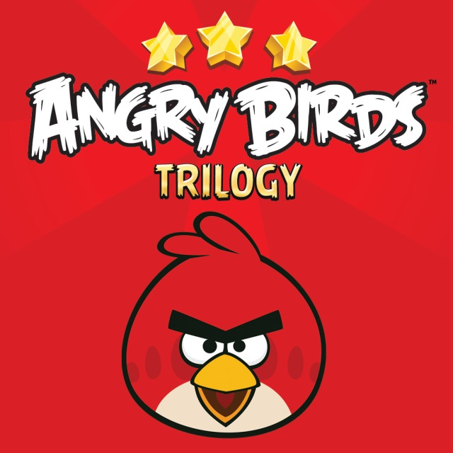 Front boxart of the game Angry Birds Trilogy (Europe) on Sony PS Vita