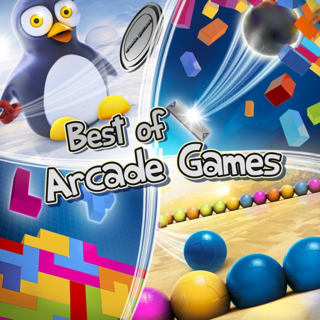 Front boxart of the game Best of Arcade Games (Australia) on Sony PS Vita