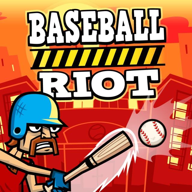 Front boxart of the game Baseball Riot (Australia) on Sony PS Vita