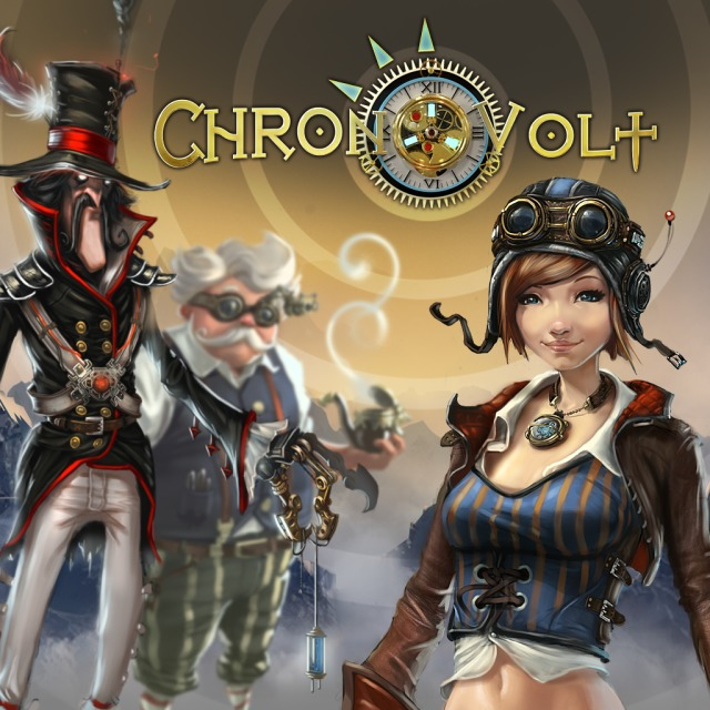 Front boxart of the game Chronovolt (Europe) on Sony PS Vita
