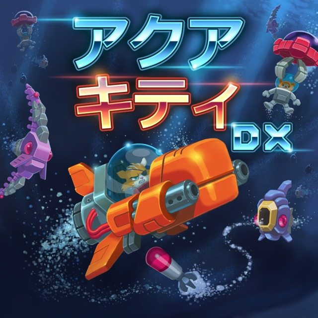 Front boxart of the game Aqua Kitty - Milk Mine Defender DX (Japan) on Sony PS Vita