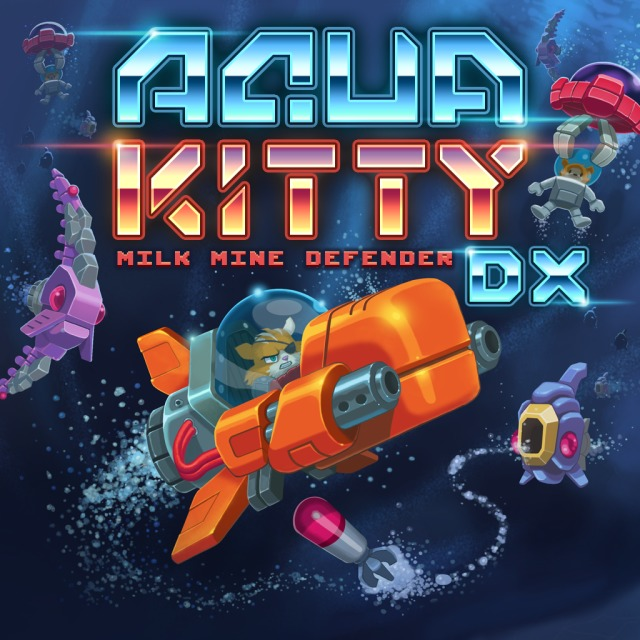 Front boxart of the game Aqua Kitty - Milk Mine Defender DX (United States) on Sony PS Vita
