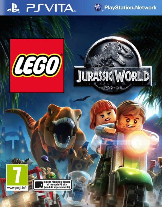 Front boxart of the game LEGO Jurassic World (Europe) on Sony PS Vita