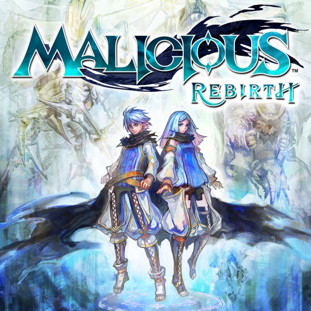 Front boxart of the game Malicious Rebirth (Australia) on Sony PS Vita
