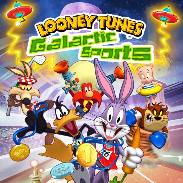 Front boxart of the game Looney Tunes - Galactic Sports (Australia) on Sony PS Vita