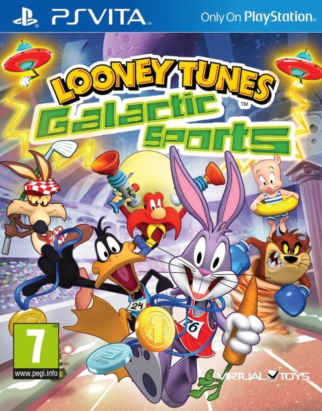 Front boxart of the game Looney Tunes - Galactic Sports (Europe) on Sony PS Vita