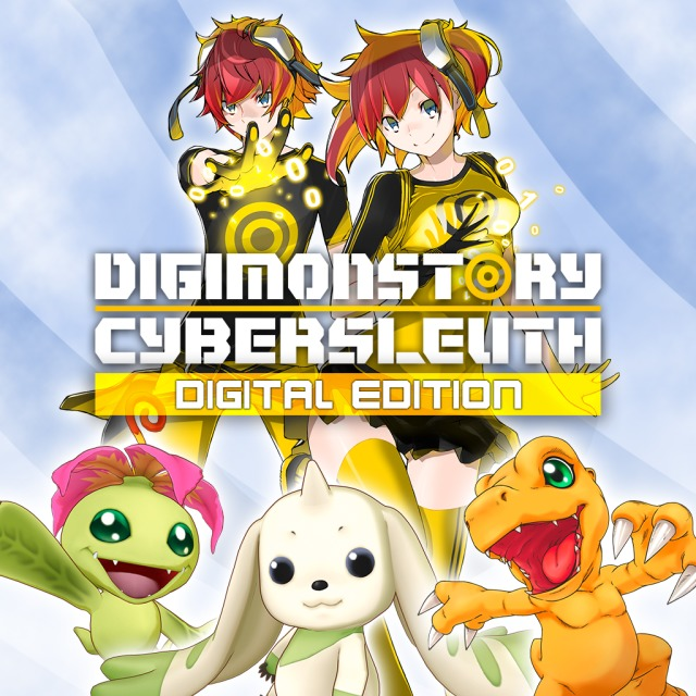 Front boxart of the game Digimon Story Cyber Sleuth (Europe) on Sony PS Vita