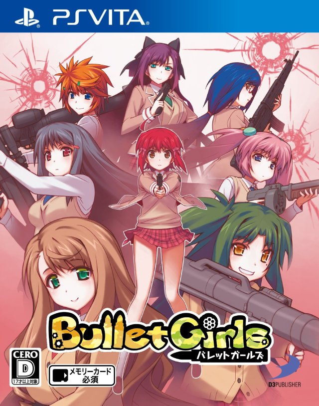 Front boxart of the game Bullet Girls (Japan) on Sony PS Vita