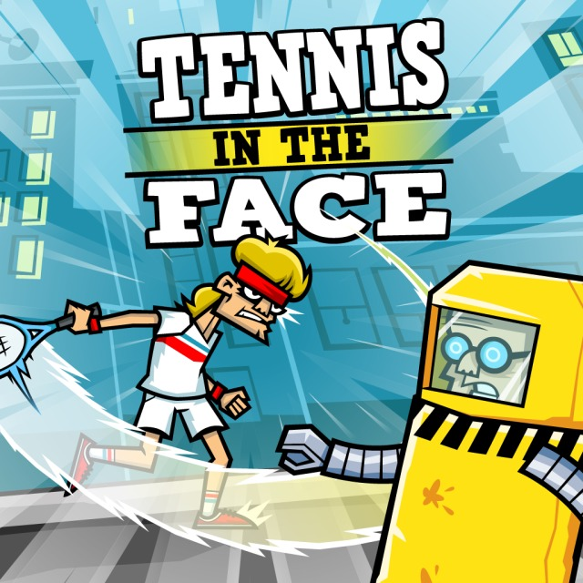 Front boxart of the game Tennis in the Face (Europe) on Sony PS Vita
