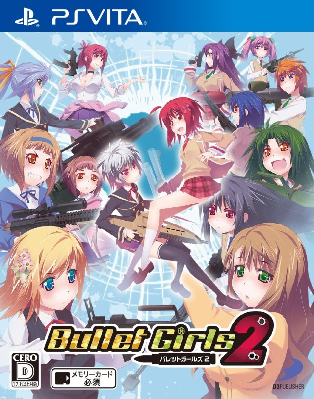 Front boxart of the game Bullet Girls 2 (Japan) on Sony PS Vita