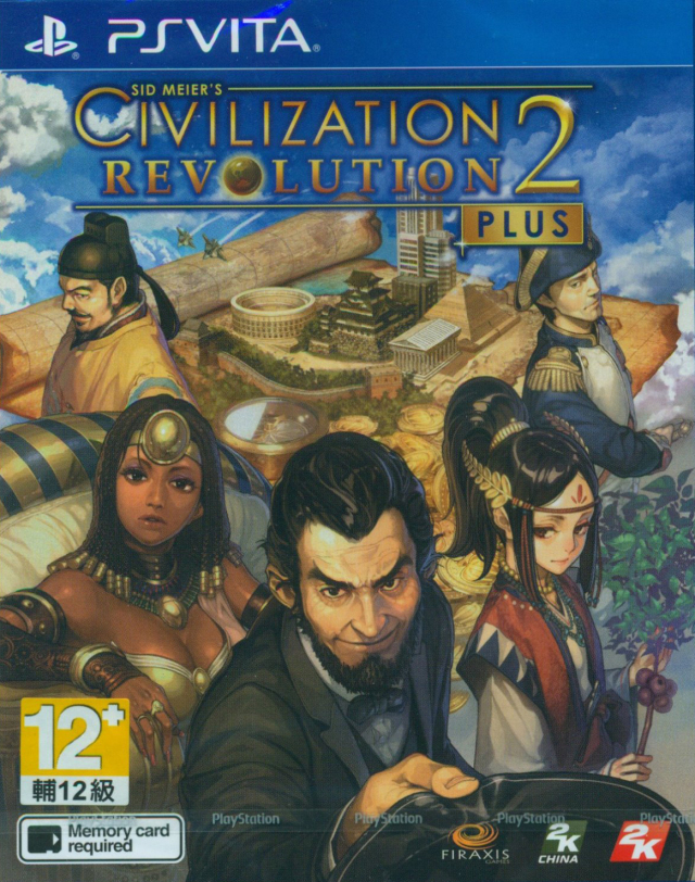 Front boxart of the game Sid Meier's Civilization Revolution 2+ (Asia) on Sony PS Vita
