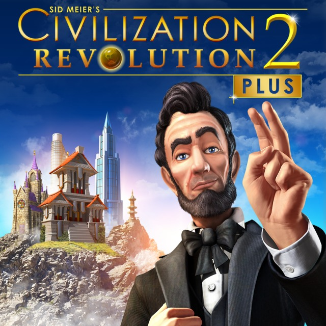 Front boxart of the game Sid Meier's Civilization Revolution 2+ (United States) on Sony PS Vita