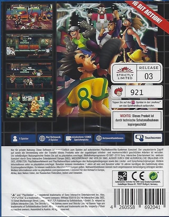 Back boxart of the game 99Vidas (Europe) on Sony PS Vita