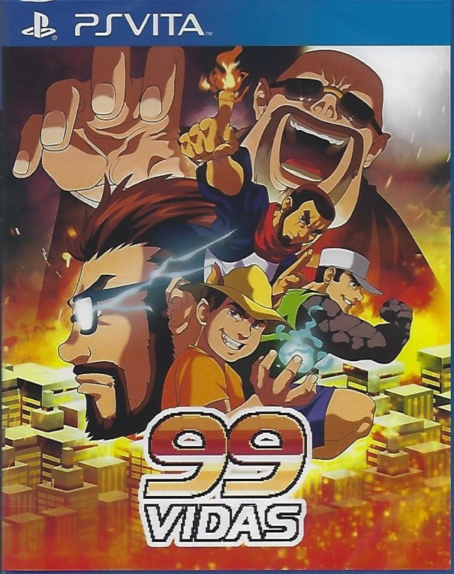 Front boxart of the game 99Vidas (Europe) on Sony PS Vita