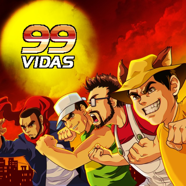 Front boxart of the game 99Vidas (United States) on Sony PS Vita