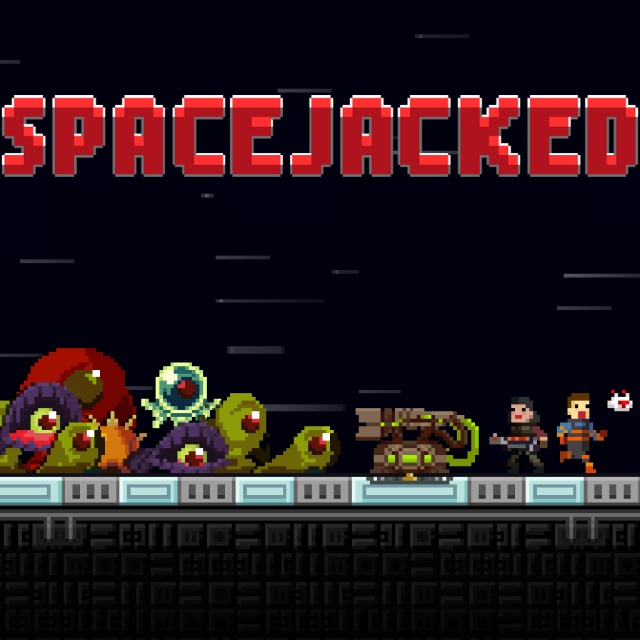 Front boxart of the game Spacejacked (Europe) on Sony PS Vita