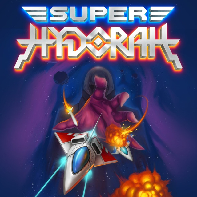 Front boxart of the game Super Hydorah (Europe) on Sony PS Vita