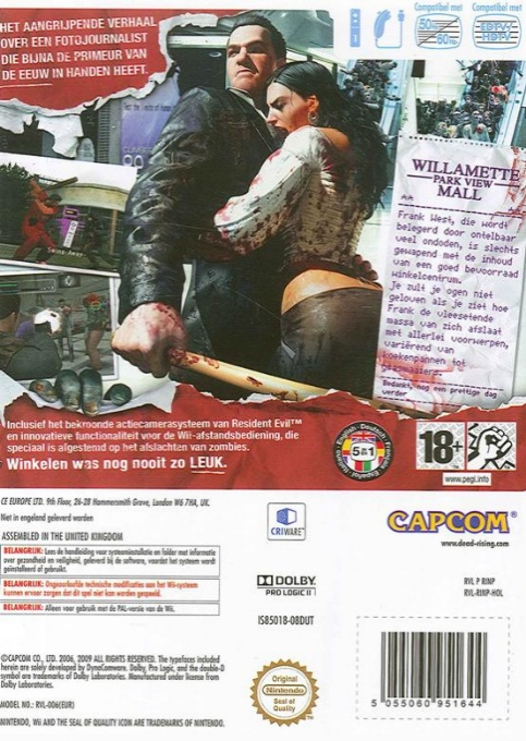Back boxart of the game Dead Rising - Chop Till You Drop (Germany) on Nintendo Wii