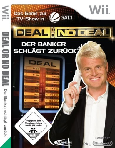 Front boxart of the game Deal or No Deal - The Banker Is Back (Germany) on Nintendo Wii