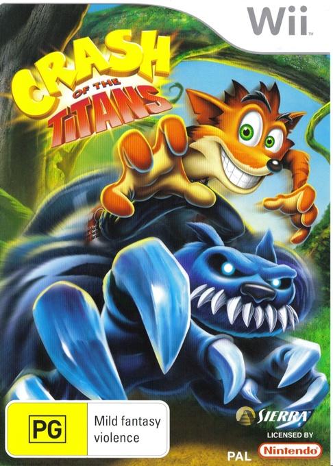Front boxart of the game Crash of the Titans (Australia) on Nintendo Wii