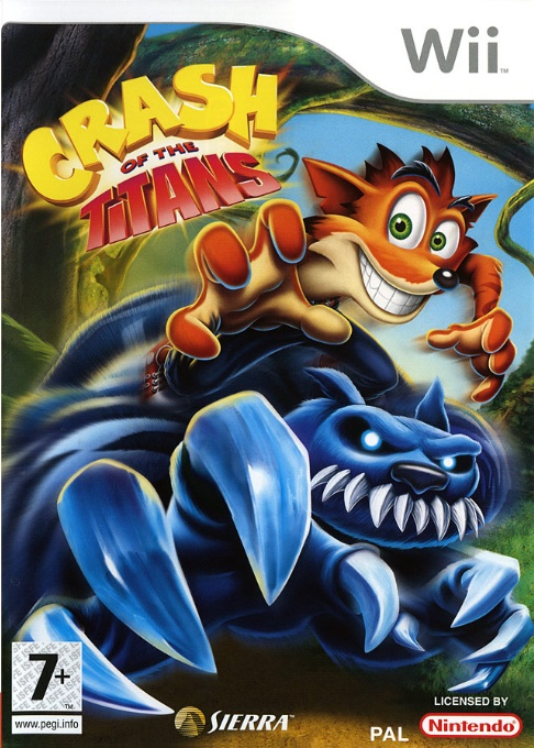 Front boxart of the game Crash of the Titans (France) on Nintendo Wii