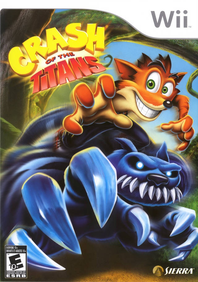 Front boxart of the game Crash of the Titans (United States) on Nintendo Wii