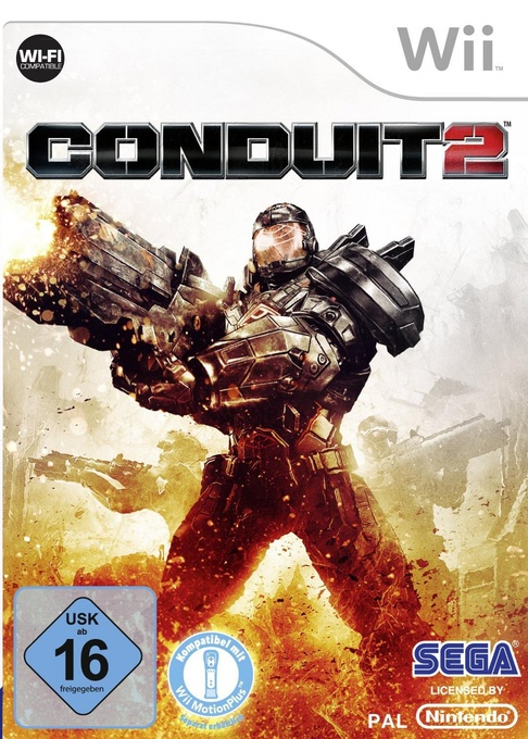 Front boxart of the game Conduit 2 (Germany) on Nintendo Wii