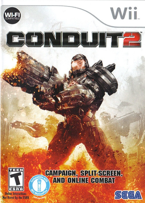 Front boxart of the game Conduit 2 (United States) on Nintendo Wii