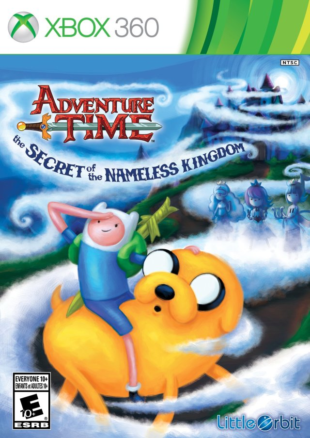 Front boxart of the game Adventure Time - The Secret of the Nameless Kingdom (United States) on Microsoft Xbox 360