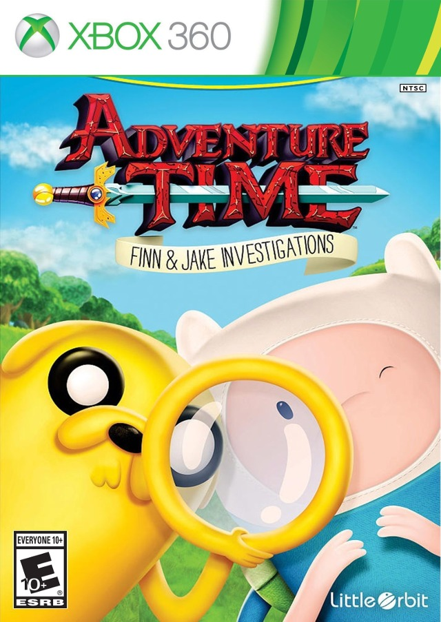 Front boxart of the game Adventure Time - Finn and Jake Investigations (United States) on Microsoft Xbox 360