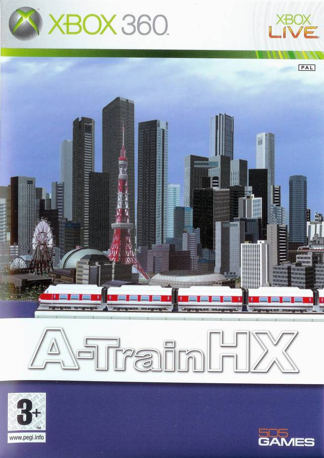 Front boxart of the game A-Train HX (Europe) on Microsoft Xbox 360