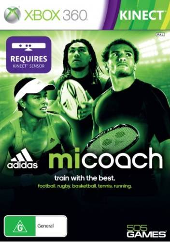 Front boxart of the game Adidas miCoach (Australia) on Microsoft Xbox 360