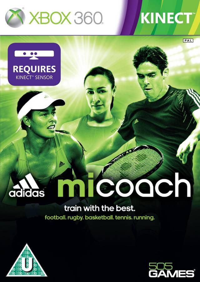 Front boxart of the game Adidas miCoach (Europe) on Microsoft Xbox 360