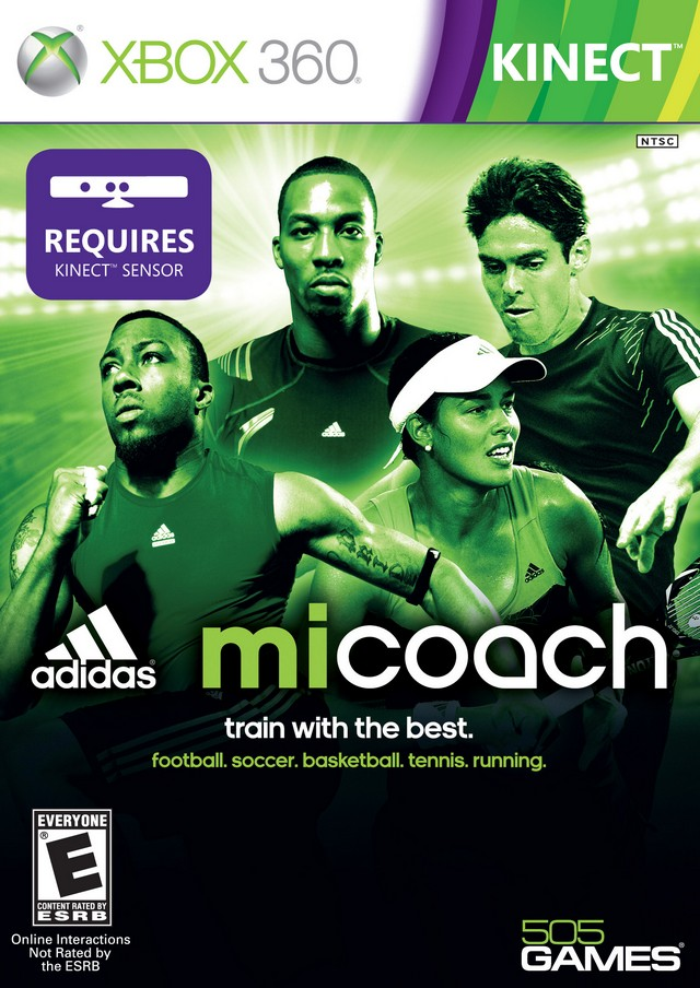 Front boxart of the game Adidas miCoach (United States) on Microsoft Xbox 360