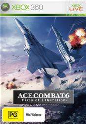 Front boxart of the game Ace Combat 6 - Fires of Liberation (Australia) on Microsoft Xbox 360