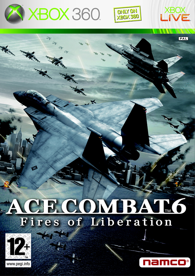 Front boxart of the game Ace Combat 6 - Fires of Liberation (Europe) on Microsoft Xbox 360