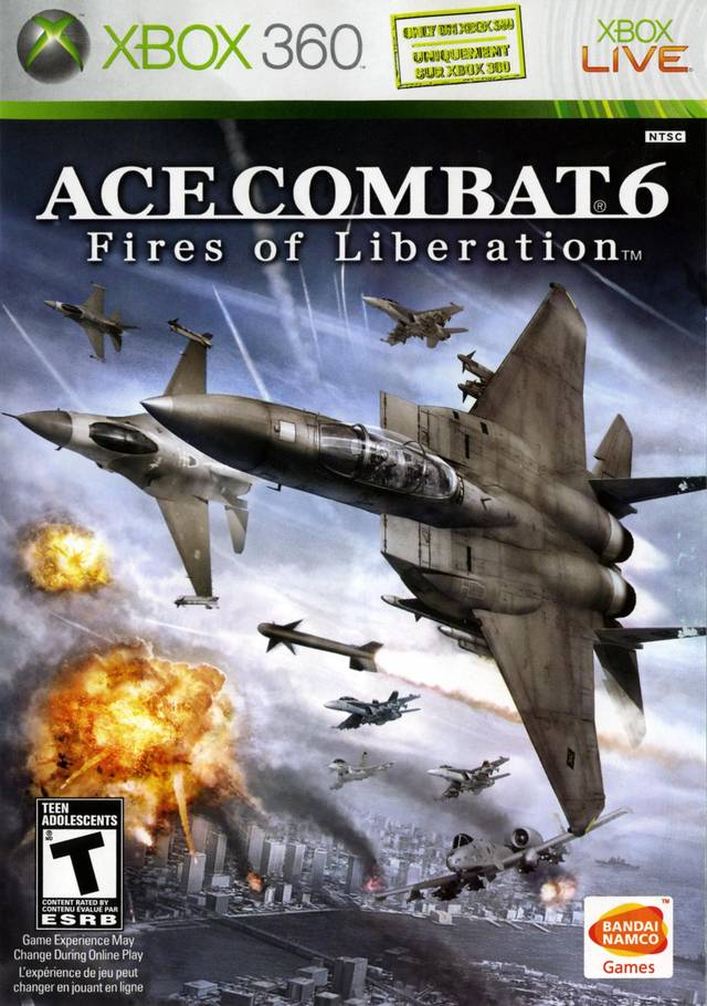 Front boxart of the game Ace Combat 6 - Fires of Liberation (United States) on Microsoft Xbox 360