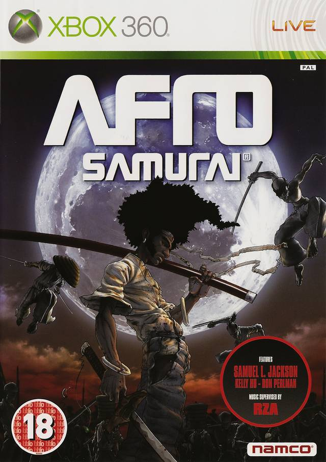 Front boxart of the game Afro Samurai (Europe) on Microsoft Xbox 360